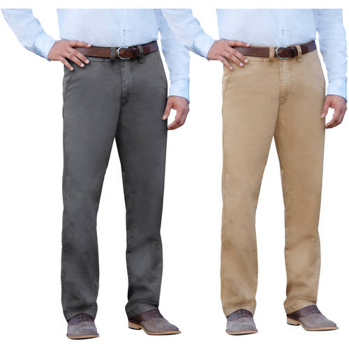 George Men's Everyday Wash Chinos, 2 Pack
