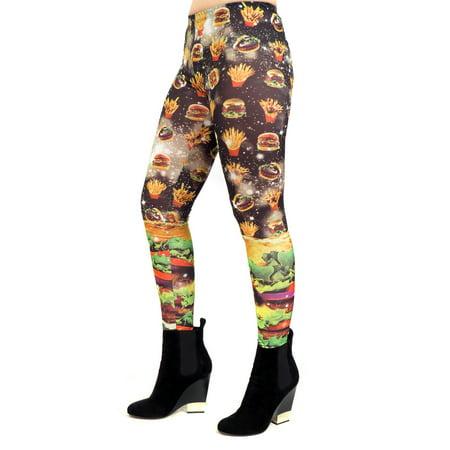 K TOO - Hamburger Fries Galaxy Leggings French Fashion ...