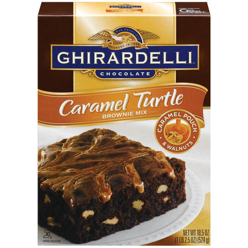 Ghirardelli Caramel Turtle Brownie Mix, 18.5 Oz