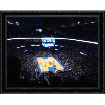 Chesapeake Energy Arena 36X28 Large Black Ornate Wood Framed Canvas Art   Home Of The Oklahoma City Thunder
