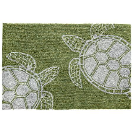 Liora Manne Capri Turtle Indoor Outdoor Rug Greenery 24