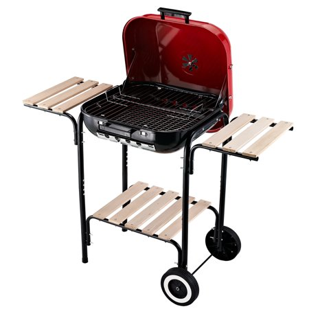 "Outsunny 19"" Steel Porcelain Portable Outdoor Charcoal Barbecue Grill"