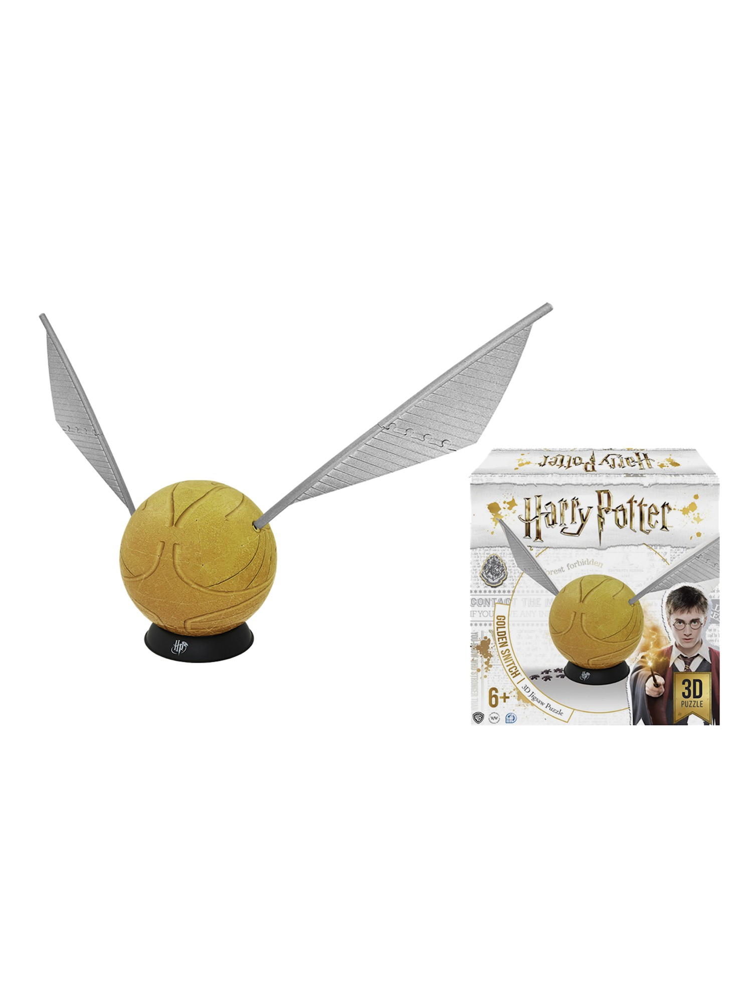 4D Cityscape Harry Potter Golden Snitch 3D Puzzle with Display Stand 242 Pieces by 4D Cityscape Inc.