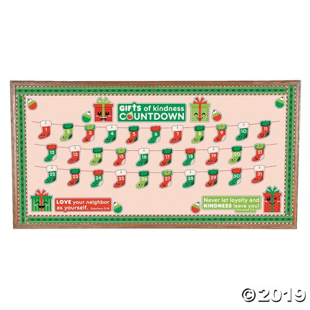 Countdown to Kindness Christmas Bulletin Board Set ()