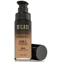 4 Pack - Milani Conceal + Perfect 2-in-1 Foundation, [05A]  Natural Beige 1 oz