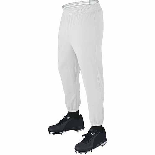 Wilson Basic Adult Baseball Pull-Up Pants with Elastic Waistband, White by Wilson