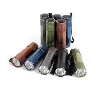 Ozark Trail Aluminum 6-LED Mini Flashlight, 10-Pack, 5 Colors, Model 4245