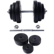 Costway New 1 PC Weight Dumbbell 44 LB Adjustable Cap Gym Barbell Plates Body Workout