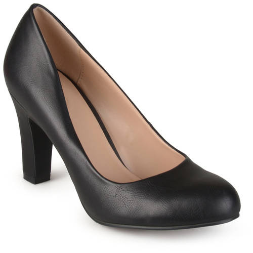 Brinley Co. Women's Chunky Heel Matte Finish Pumps