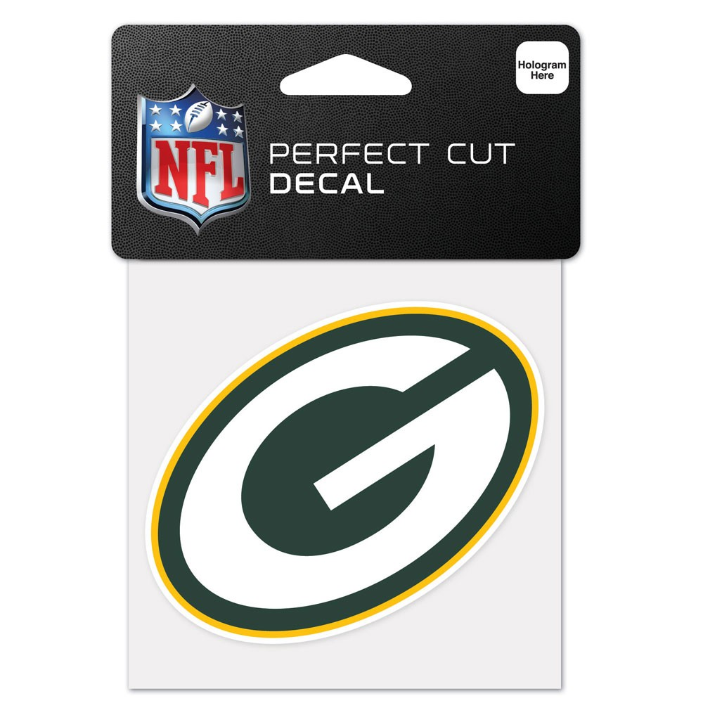 Green Bay Packers Official NFL 4 inch x 4 inch  Die Cut Car Decal by Wincraft