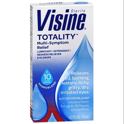 Visine Totality Multi-Symptom Relief Eye Drops 0.50 oz (Pack of 2)