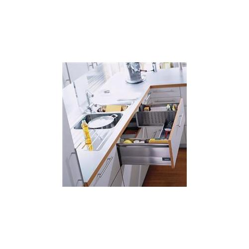 Blum Bsd358Ddw 20Ssk 19 - . 69 inch Tandembox D-Height 75Lb Sink Drawer - Stainless Steel