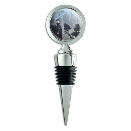 Steampunk City Zeppelin Wine Bottle Stopper](Steampunk City)