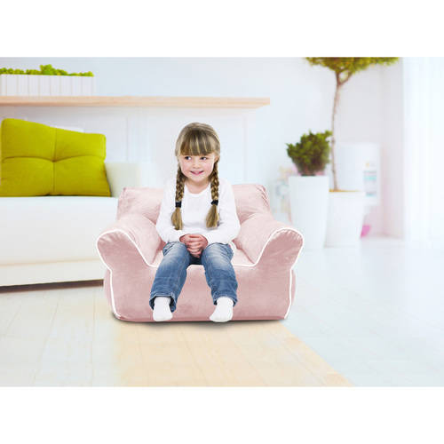 American Kids Bean Bag Chair with Piping, Multiple Colors