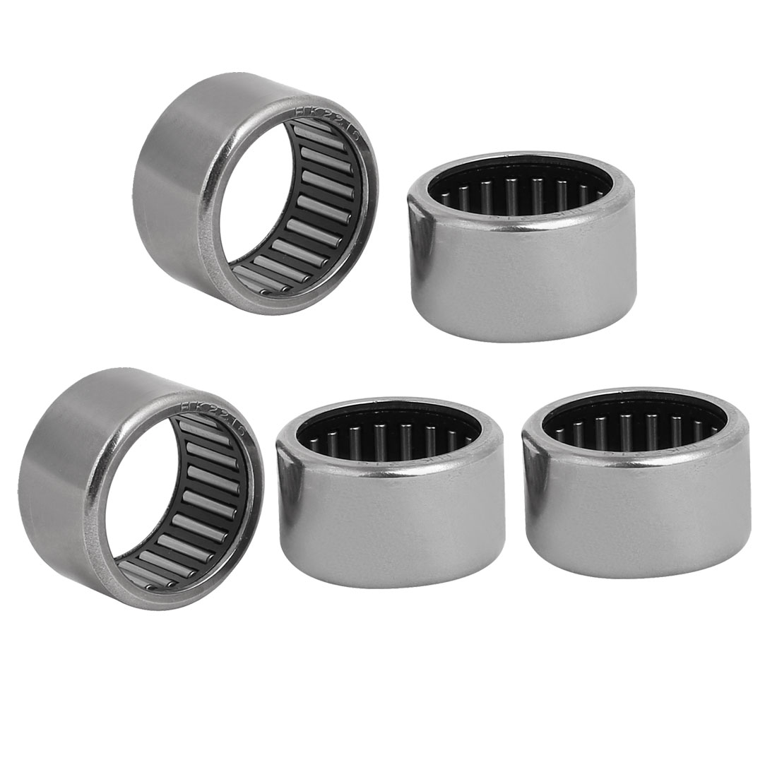 HK2216 22mm x 28mm x 16mm Full Complement Drawn Cup Needle Roller Bearing 5pcs