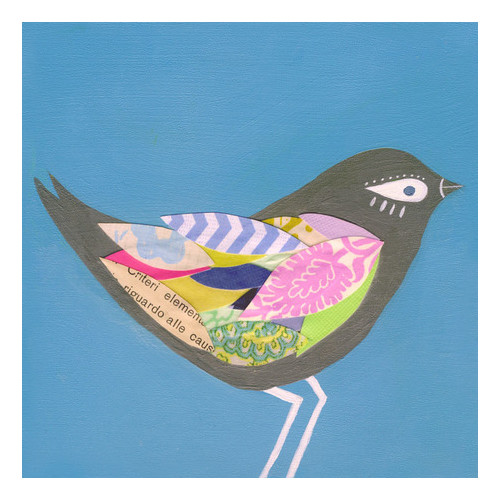 Oopsy Daisy Slate Junco Bird Canvas Art