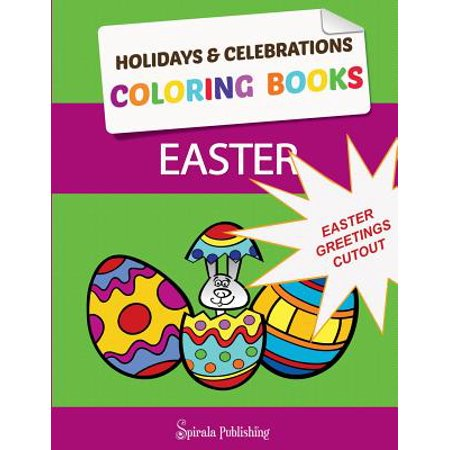 Easter Coloring Book Greetings : Color and Cut Out Your Special Easter Greetings: Coloring Pages and Cut Outs for Kids - Halloween Coloring Cut Out Pages