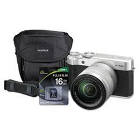 Fuji Photo Film USA 600019760 X-A10 Compact Interchangeable Lens Camera Bundle, 16 MP -