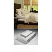 Home Source 50500TWW01 100 Percent Bamboo Twin Flat Sheet - White