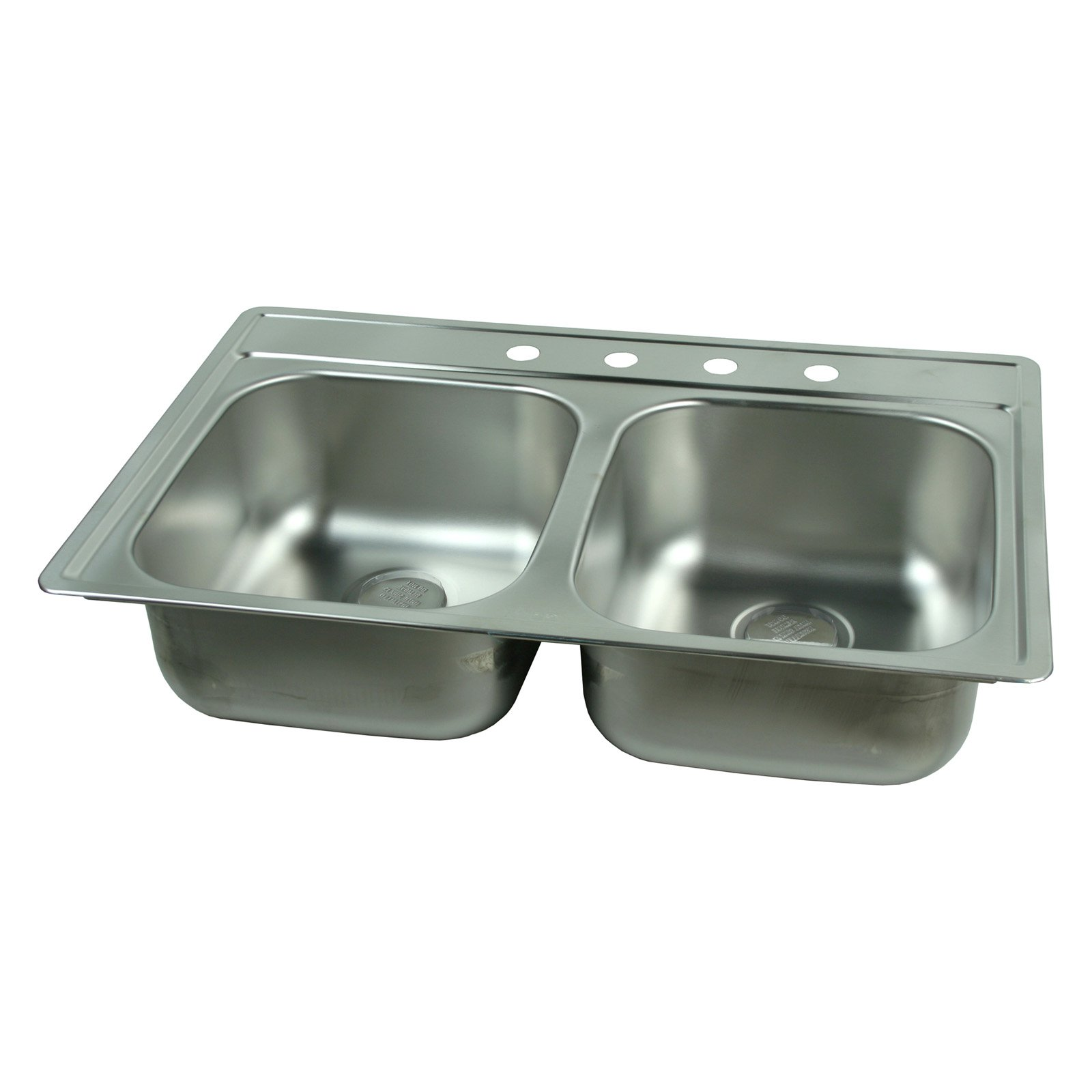 Foghorn Press FDS804N Double Basin Topmount Kitchen Sink