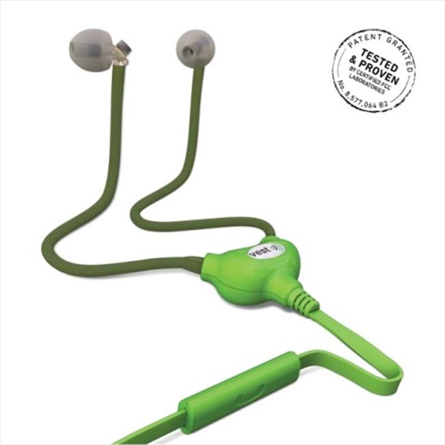 Vest Anti-Radiation Wired Headset, Green