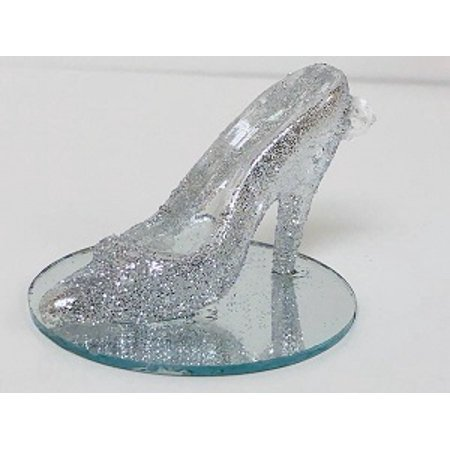 High Heel Shoe Silver Glitter Party Favor All Occasion Wedding Sweet 16](Sweet 16 Favors)