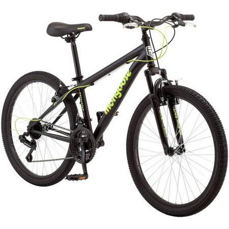 """24"""" Mongoose Excursion Boys' Mountain Bike, Black/Yellow"""