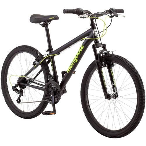 """24"""" Mongoose Excursion Boys' Mountain Bike, Black"""