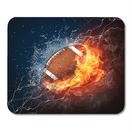 JSDART American Football Ball in Fire and Water of The Mousepad Mouse Pad Mouse Mat 9x10 inch - image 1 de 1