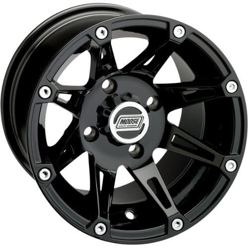 Moose Racing 387X Wheel (Rear) 12X8 Black Fits 10-12 Polaris RZR 4 800