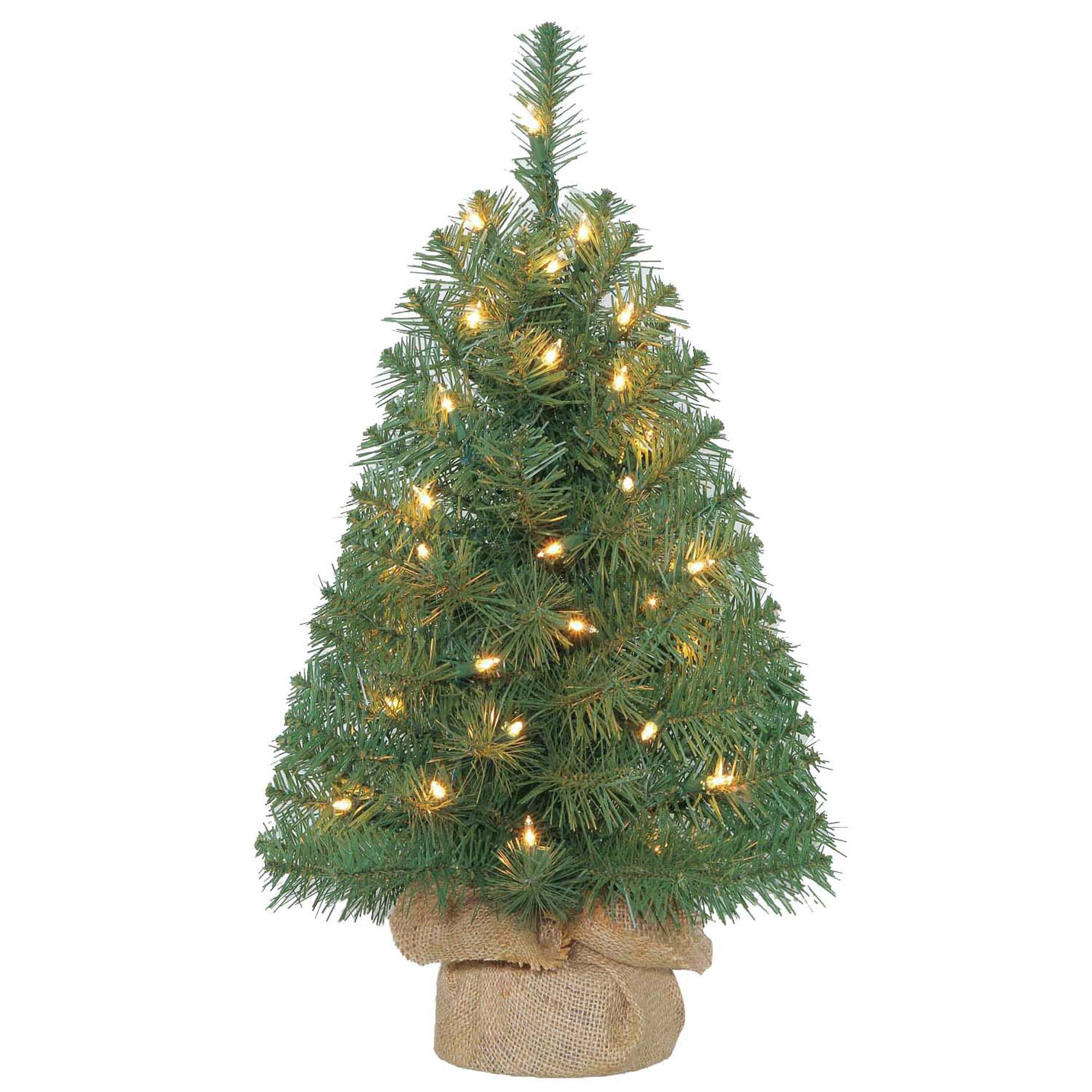 Holiday Time 2ft Pre-Lit Noble Fir Green Artificial ...