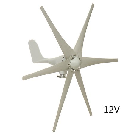Electric 6 Nylon Fiber Blades Max 800W 12V/24V/48V Wind Turbine Generator Windmill Power Generator Green Energy Generating Aerogenerator (Excluding (Best Marine Wind Generator)