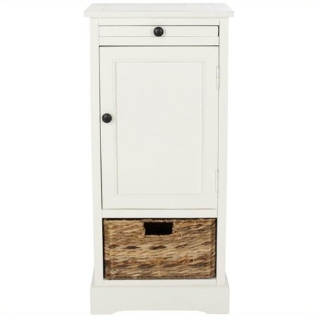 Hawthorne Collection Wood Tall Storage Unit in (Tall Cream)