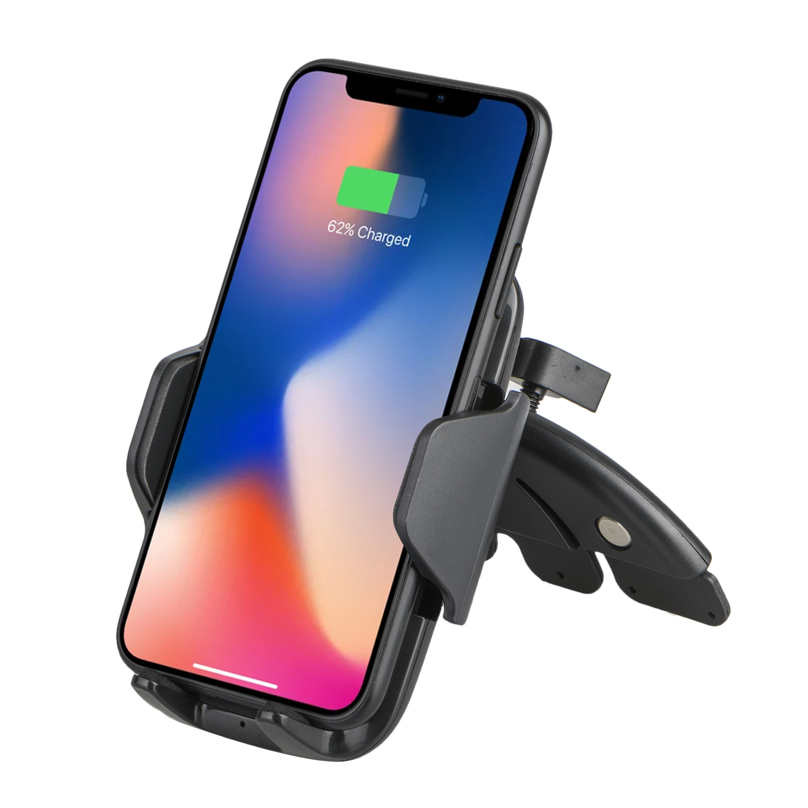 TSV Fast Qi Wireless Car Charger CD Slot Mount Holder for Samsung S9 Plus iPhone X 8