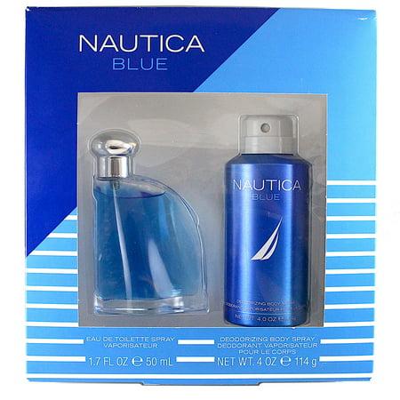 6993c1634135 Nautica Blue 2 Pc. Gift Set ( Eau De Toilette Spray 1.7 Oz + Deodorizing  Body Spray 4.0 Oz) - Walmart.com