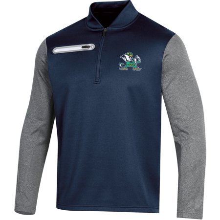 Fleece Notre Dame Irish Jacket - Men's Russell Navy Notre Dame Fighting Irish Colorblock Half-Zip Pullover Jacket