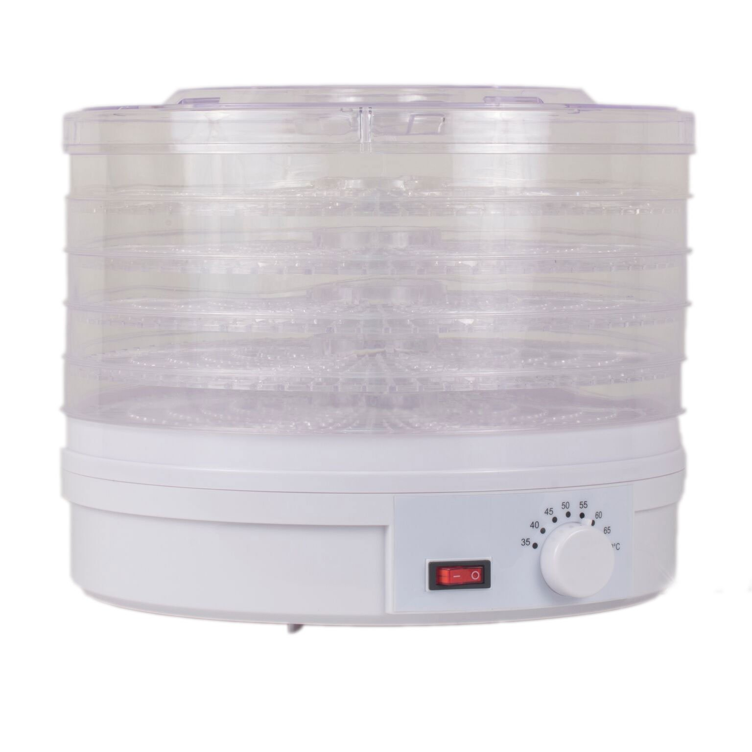 Westinghouse WFD101W New Food Dehydrator, 245 Watts, White Base, 5 Stackable Trays by Westinghouse