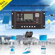 40A Solar Panel Controller Battery Charge Regulator 12V/24V Auto With Dual USB
