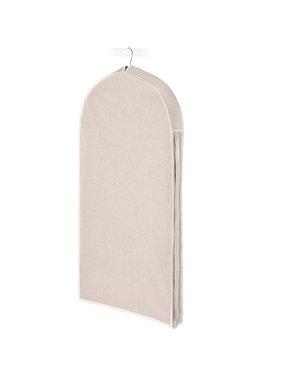 """Whitmor Zippered Garment Bag -Natural Linen - 22"""" x 3"""" x 40"""""""