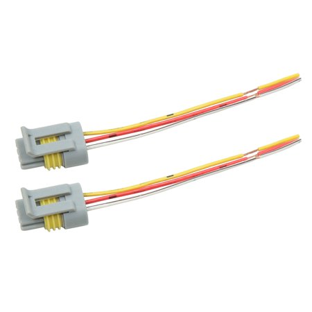 2pcs DC 12V 3 Wires Gray Electric Motor Wiring Harness Connector for Wiring For Cars on