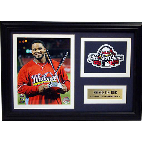 MLB Prince Fielder Patch Frame, 12x18