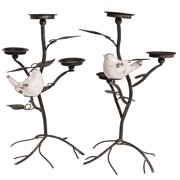 "Donny Osmond Home -Metal Candleholder 22"", Set of 2"