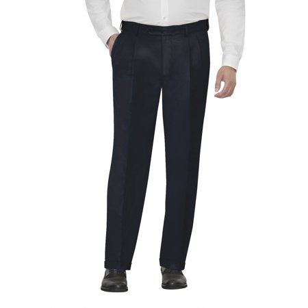 Navy Cord Pants - Men's Microfiber Pleated Dress Pants