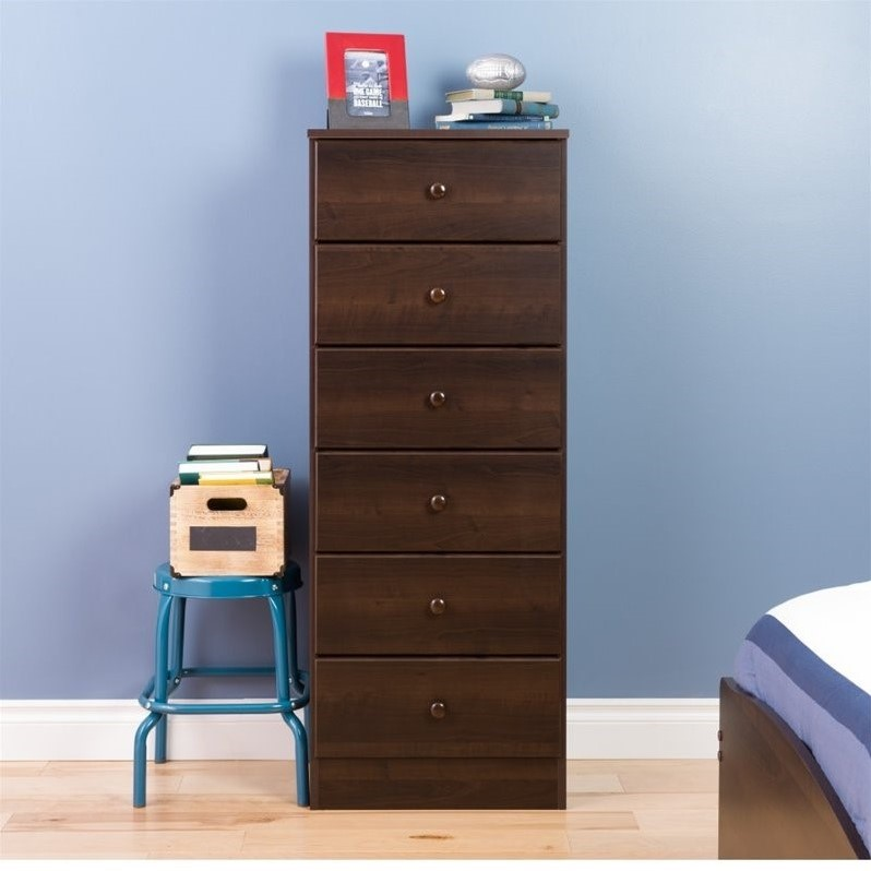Kingfisher Lane 6 Drawer Lingerie Chest in Espresso
