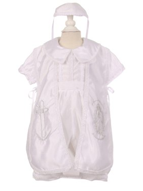 bb675d5f1 Product Image Baby Boys White Cross Virgin Mary Embroidery Christening  Baptism Romper 6-24M