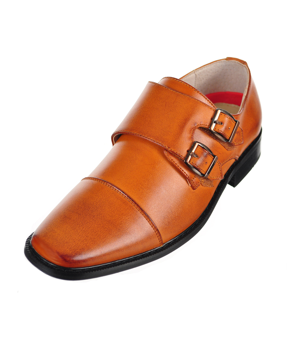 """Boys' """"Double Buckle"""" Dress Shoes (Youth Sizes 5 - 8)"""