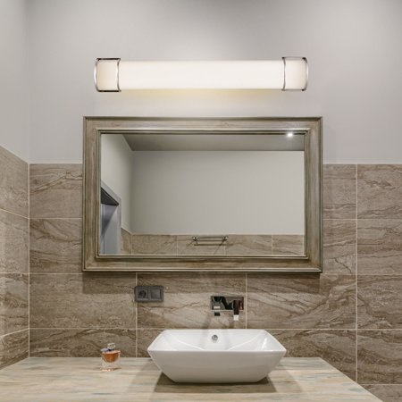 Costway 36'' 25W Integrated LED Linear Vanity Light Bar Wall Sconce Bathroom Aisle