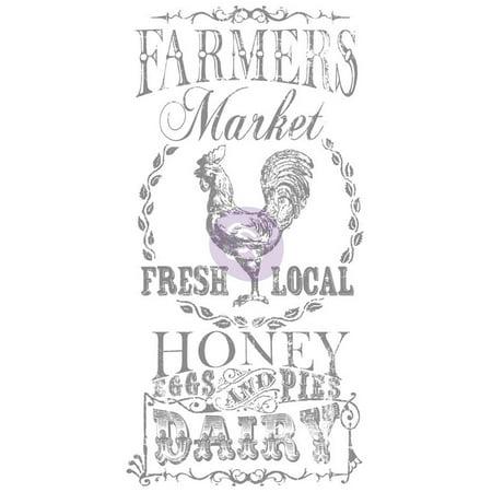 Iron Orchid Designs Decor Transfer Rub-Ons-Farmer's Market, (Ez Rub On Transfers)