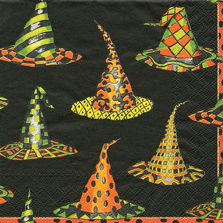 Halloween Party Cocktail Napkins 20pk Witches Hats - Best Halloween Cocktails 2017