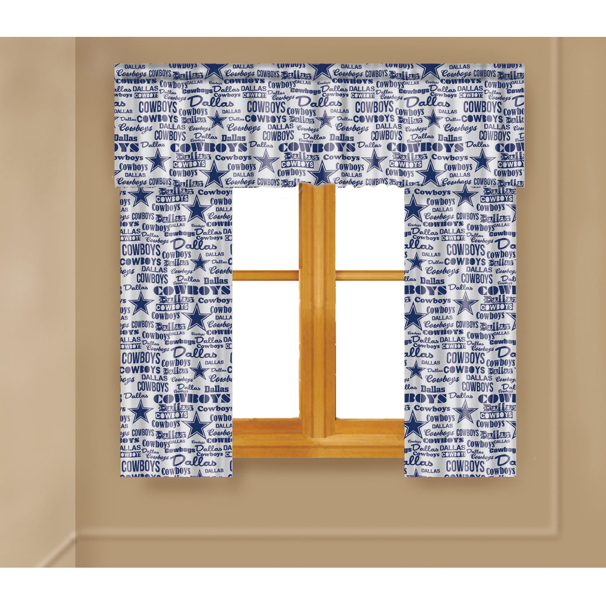 NFL Dallas Cowboys Window Curtain Panels